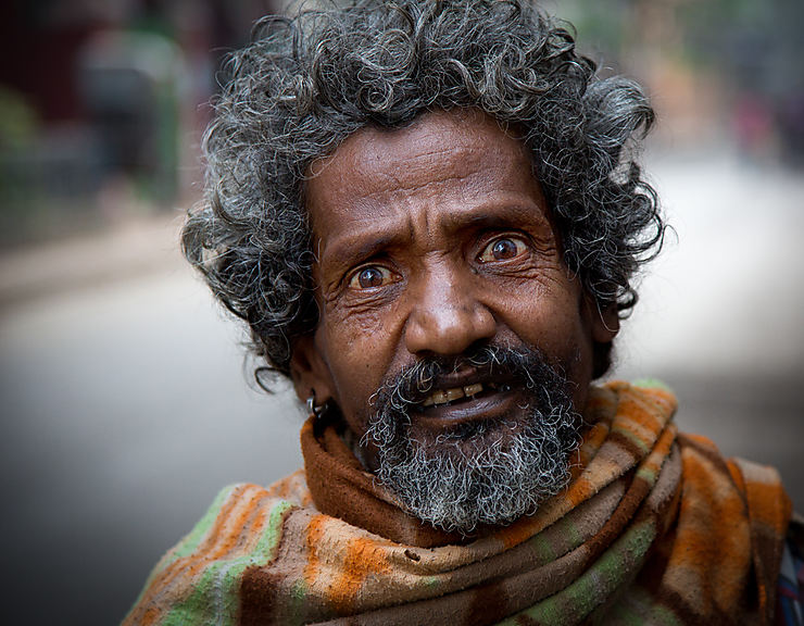 Mendiant à Kolkata