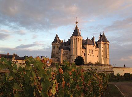 Le château de Saumur à l'automne