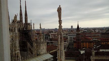 Milan vue du Dôme