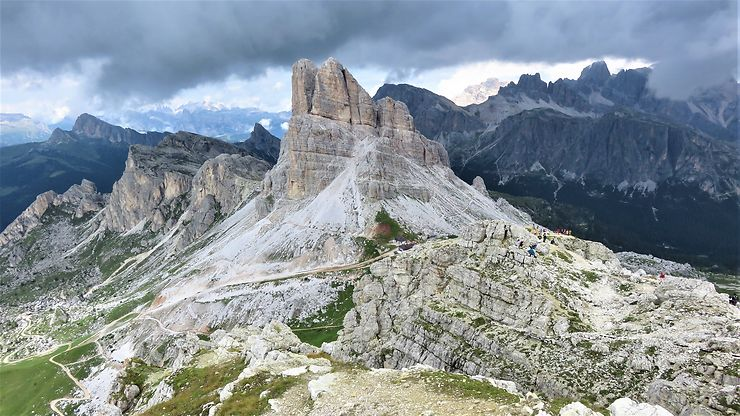Depuis le sommet du Nuvolau, Dolomites, Italie