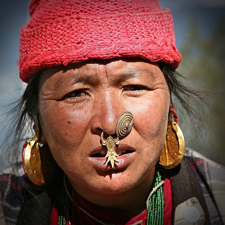 Femme d'une ethnie du Sikkim