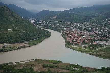 Mtskheta, vue de l'église de Jvari