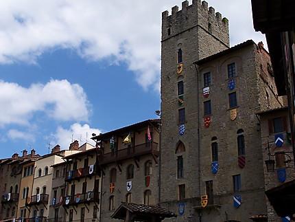 Arezzo - Facades, Piazza Grande