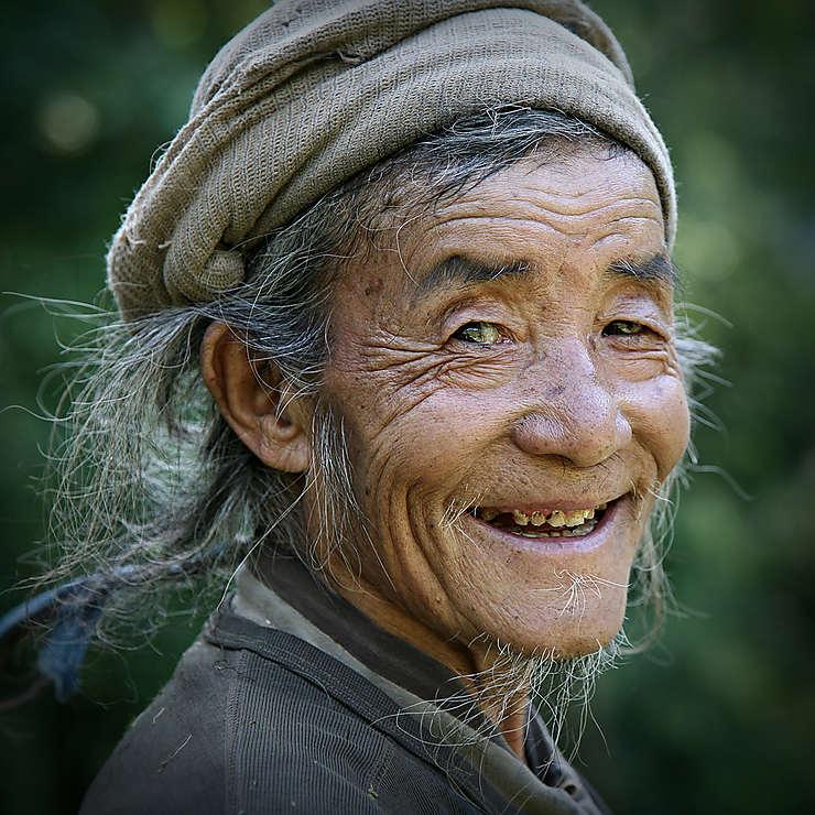 Rencontre sur un chemin au Sikkim