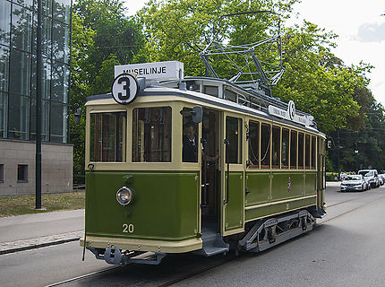 Un vieux tramway de Malmö