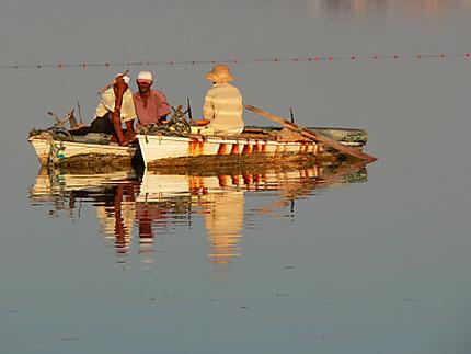 Pêcheurs au coucher du soleil