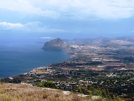 Erice vue sur le Monte Cofano