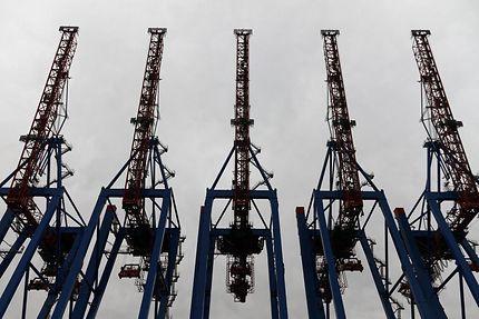 Grues au port de Hambourg
