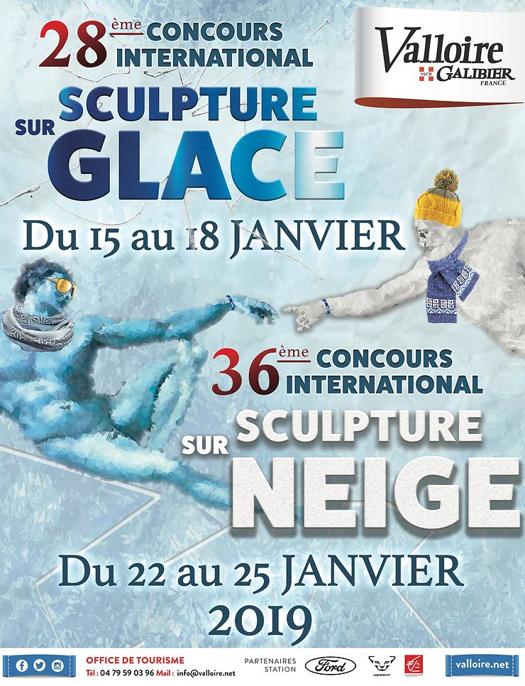 Concours de sculptures sur glace et sur neige à Valloire