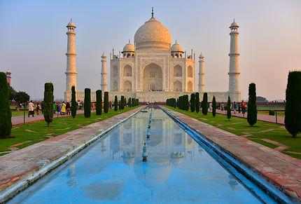 Taj Mahal et son reflet