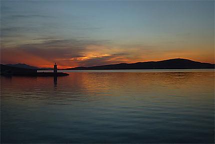 Coucher de soleil sur la baie d'Ayvalik