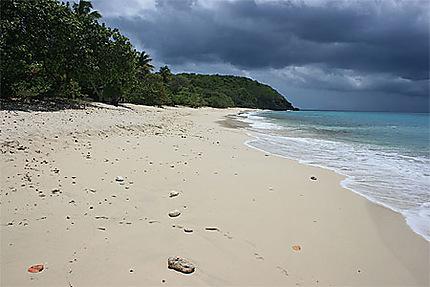 La plage de Vieux-Fort