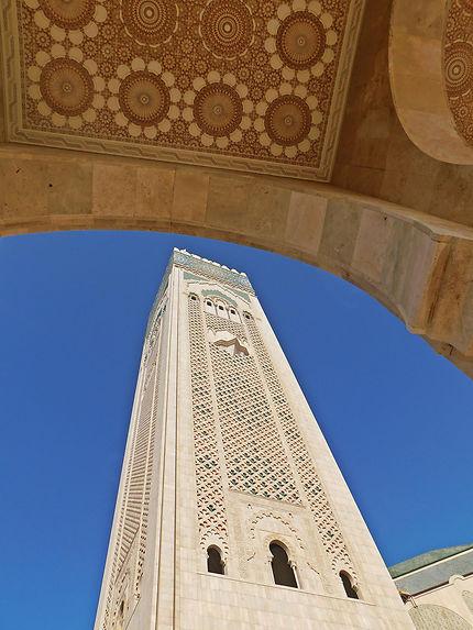 Casablanca - Le minaret de la mosquée Hassan-II