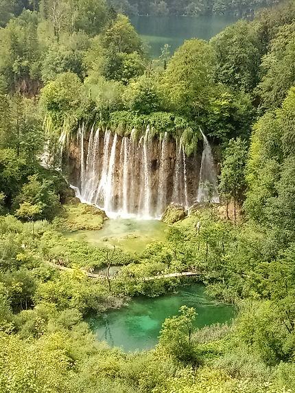 Cascades aux lacs de Plitvice
