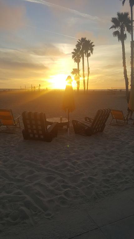 Sun on Venice beach