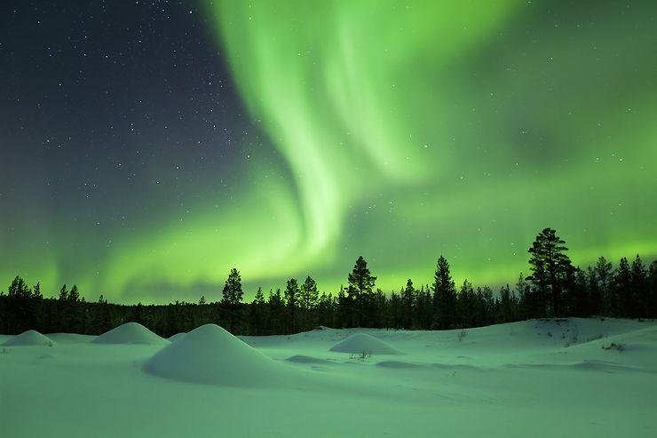 La Laponie, au pays des aurores boréales