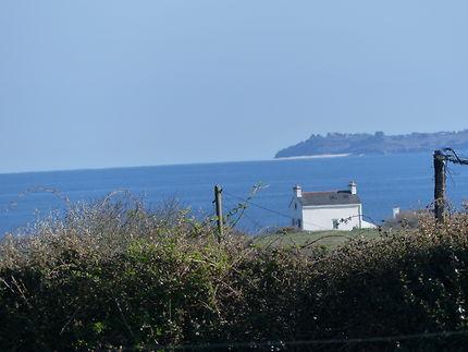 La plage convexe vue depuis le Finistère