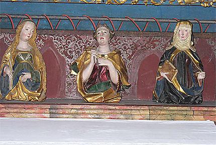 Détail d'un autel gothique