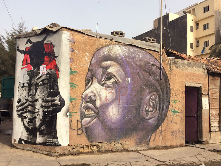 Street art dans la médina de Dakar