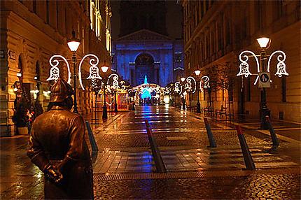 La rue Zrinyi, quelques jours avant Noël