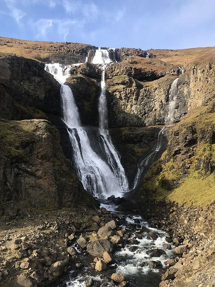 Cascade dans l'Est de l'Islande