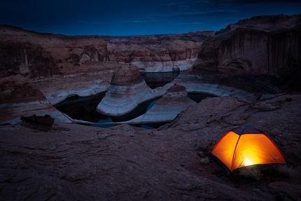 Bivouac à Reflection Canyon