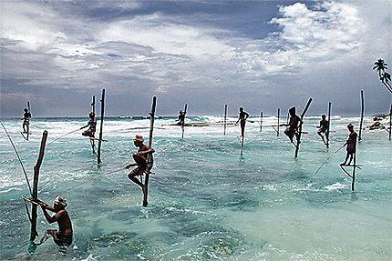 Pêcheurs à Ahangama