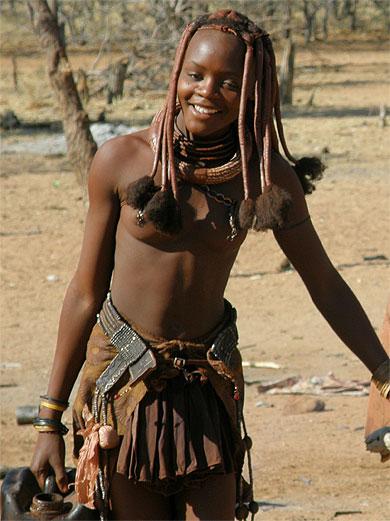 Jeune Femme Himba  Portraits  Pays Himba  Kaokoland -9410