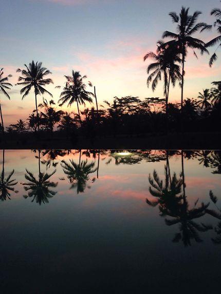 Couché de soleil à Bali