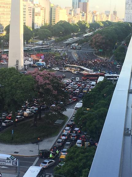 Embouteillages à Buenos Aires