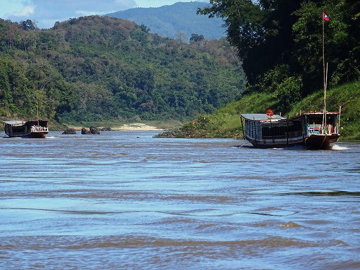 Le Mékong, au départ de Luang Prabang