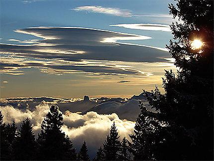 Le Mt. Aiguille vu de Chamrousse