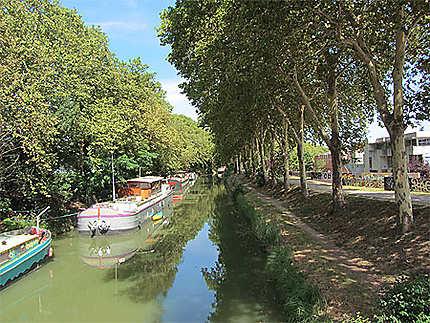 Le Canal du Midi au Parc Technologique du Canal en limite de Toulouse