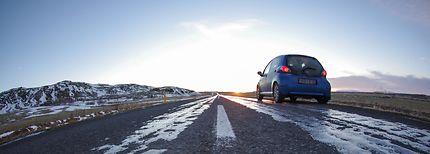 Freezed road