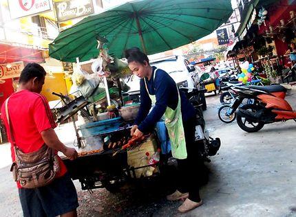 Scène de rue à Pattaya
