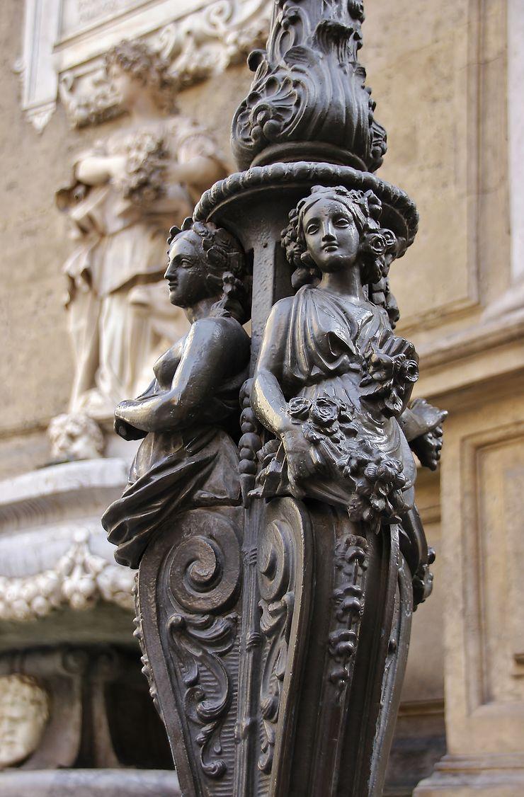 Réverbère Piazza Quattro Canti, Palerme
