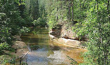 Parc national de la Gauja (environs de Sigulda)
