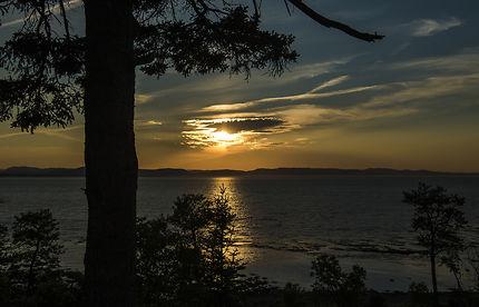 Coucher de soleil à Rivière-du-loup Québec