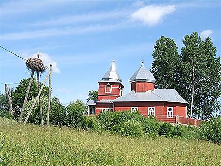 Jolie église à l'Est de la Lettonie