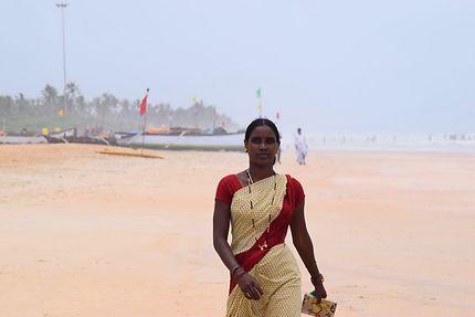 Vendeuse sur les plages de Goa