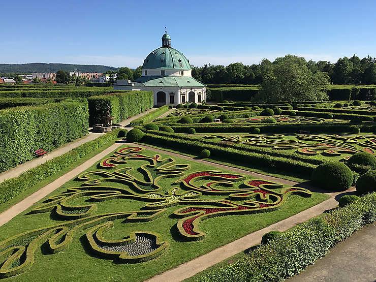 Le jardin de fleurs de Kroměříž