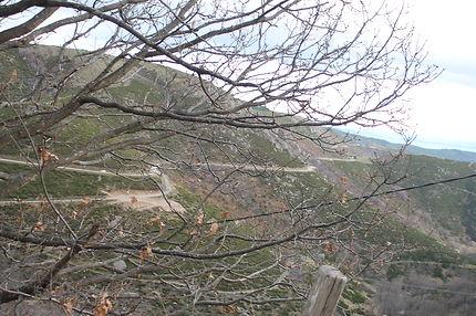 Route cévenole en Ardèche à Montselgues