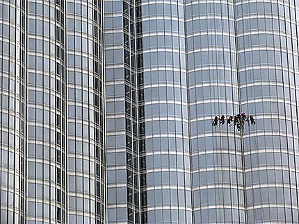 Nettoyage au Burj Khalifa