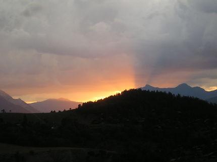 Le soleil se couche vers Barcelonnette