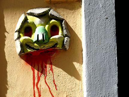 Street art surprenant, sur un mur de Florence