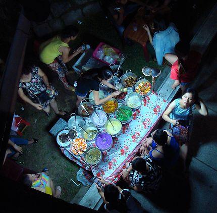 Stand de rue au Vietnam
