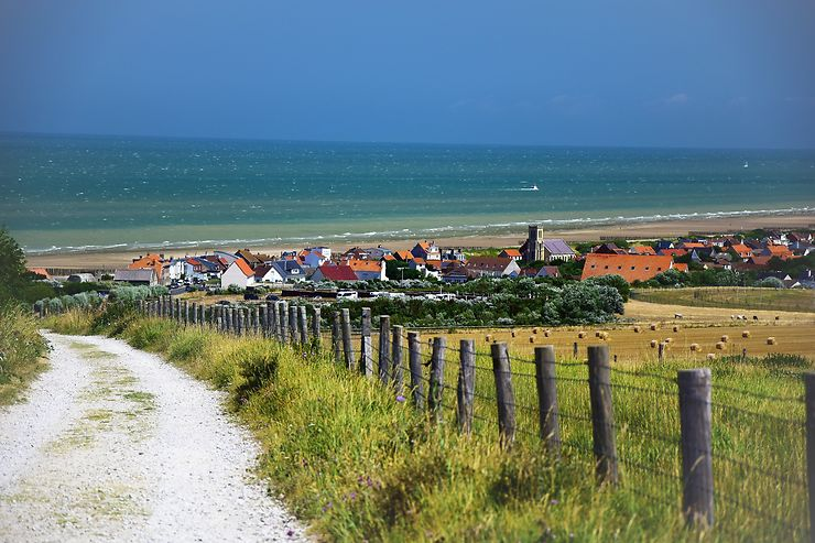 Village en bord de mer près du Cap Blanc-Nez, Pas-de-Calais