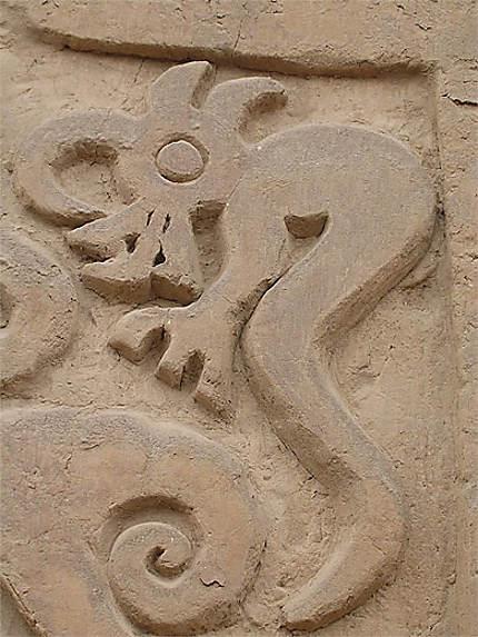 Animal fantastique sur la pyramide du Dragon