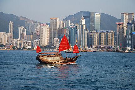 Jonque à Hong Kong