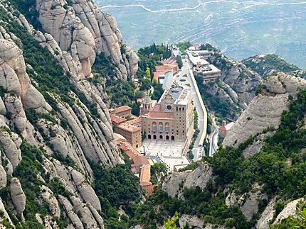 Monastère de Montserrat vu du haut